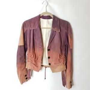 JOHN GALLIANO Tie Dye Suede jacket size 6